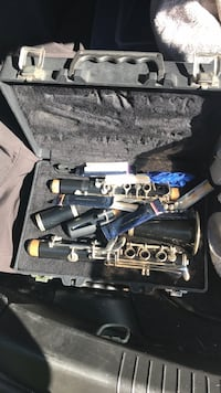 black and gray clarinet with case Clinton, 20735