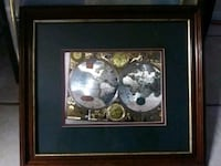 silver glove illustration with brown frame
