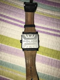 Police leather band watch