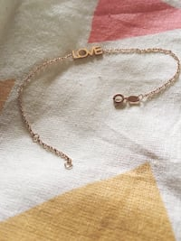 """Gold-colored chain """"Love"""" Bracelet Madison, 53703"""