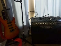 Line 6 amp, cables and stands. Tatum, 75691