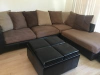 brown and black sectional couch Aurora, 80013