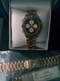 Seiko mens gold watch w/ gold band Cape Canaveral, 32920