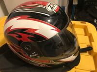 black and red full-face helmet Falling Waters, 25419