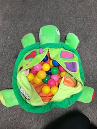 toddler's green turtle activity toy with balls Fountain Valley, 92708
