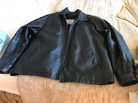 Black leather zip-up jacket, bought this for $395