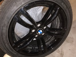 "4 Michelin 19"" winter tires with 19"" Bmw rims"