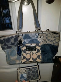 Larger COACH purse and waller