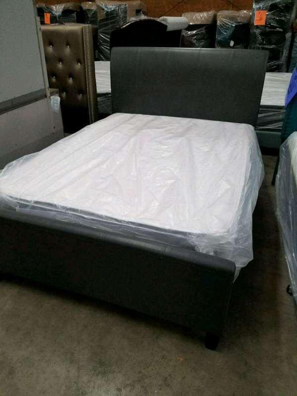 Used Queen Torry Grey Or Espresso Sleigh Bed For Sale In