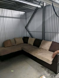 brown and black sectional couch Elkridge, 21075