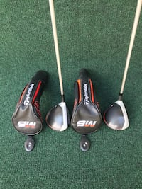 TaylorMade M6 Lightly Used Golf 3 and 5 Woods, Stiff Flex Houston, 77064