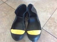 WINGS STEEL TOES RUBBER OVERSHOES SIZE MEDIUM OR 9.