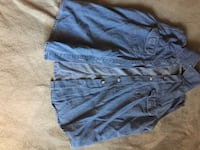 blue denim button-up sleeveless shirt Montréal, H4N 2H4