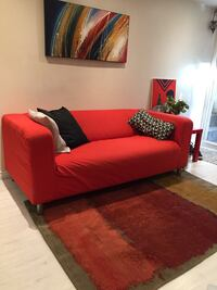 Couch, carpet, painting and 3 pillows.  Toronto, M6K