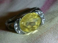 Yellow and silver ring Belleville, K8P