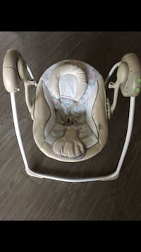 baby's white and gray portable swing Riverside, 92504