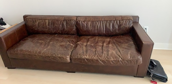Restoration hardware leather sofa or couch