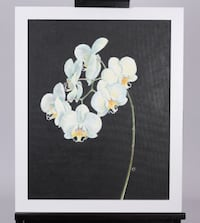 White Orchid Painting-Original