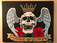 """Acrylic 16x20"""" """"Born to Rule"""" painting Vancouver, V5L 1J6"""