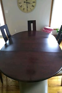 round black wooden table with four chairs dining s Mississauga, L5J 4L8