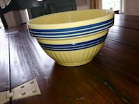 1940s Striped Ovenware Bowl Centreville, 20120