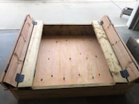 Kids covered sandbox built with treated wood Red Deer