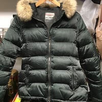 Authentic Prada women's down  jacket/coat with real fur collar Burnaby, V5G 3X4