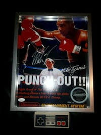 Mike Tyson signed Nintendo punch out 11x14 Toronto, M9R 3S5