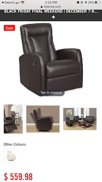 Molly bonded leather swivel recliner Calgary, T3J 1G3