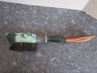 Vintage Hand Crafted Hand Painted Mallard Duck Shoe Horn & Coat Brush