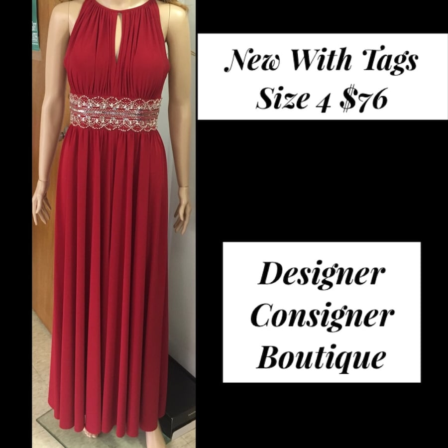 New With Tags Size 4 Formal Gown $76