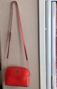 red and black leather crossbody bag Danville, 94506