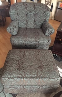 gray and white floral padded sofa chair Chandler, 85248