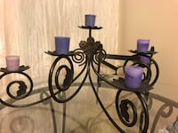 Black Metal Candle Holder - Comes with candles London