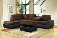 -Heights Chocolate/Black Reversible Sectional 1201 mi