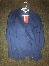 Tradition Navy Blue Shirt, women's dress shirt, size 8 Markham, L3S 3N3