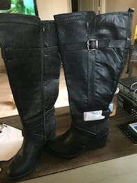 Pair of black  knee high boots size 8w Monterey, 93940