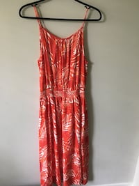 red and white floral spaghetti strap dress Vancouver, V6K 2A7