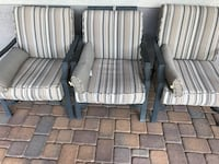 Patio chairs rocking heavy duty metal frames excellent condition  Surprise, 85379