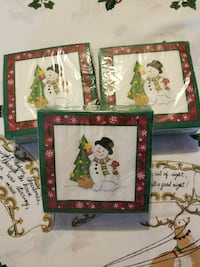 3  Packages of Longaberger Bluster Snowman Napkins Hagerstown, 21740