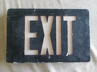 Old Exit sign  Donna, 78537