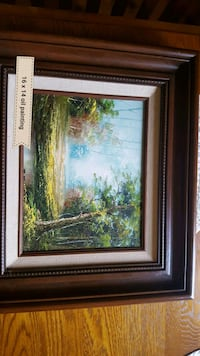 river and trees painting Third Lake, 60030
