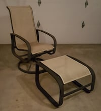 black metal frame brown padded armchair Bethesda, 20814