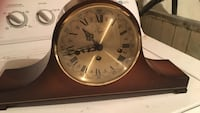 Brown wooden mantle clock Toronto
