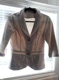 beige button-up collared blazer 6256 km