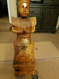 Wood Carved  Figurine Charlotte, 28216