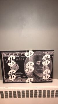 Canvas Painting (Design 100$ Bill) Sold Out Limited Edition Great Neck, 11023
