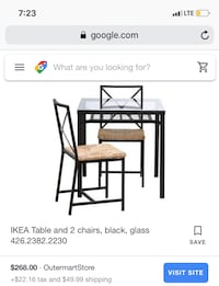 IKEA glass table for 2! New York, 11221