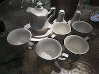 white ceramic teapot set