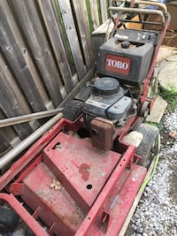 Toro 36 inch self propelled 4 speed heavy  duty mower.  Starts on first pull great motor and machine I upgrade and don't need anymore 500 OBO Brampton, L7A 0J9